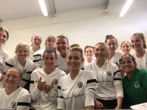 2016/17 - Royston Town Ladies FC first team kit sponsored by Royston Tandoori