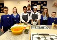 January 2016 - Executive Chef Habibur Rahman-Shamim delivering first ever lesson at Roysia Middle School